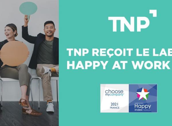 TNP reçoit le label HappyAtWork